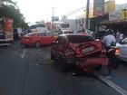Acidente com cinco veículos deixa trânsito lento na Av. Fernandes Lima