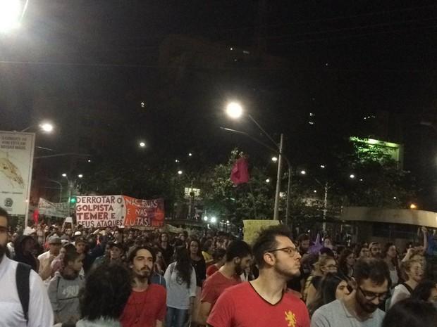 Ato ocorreu nesta quinta-feira (1), em Campinas (SP) (Foto: Marina Ortiz)