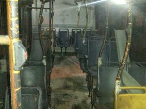 Ônibus sofreu dandos parciais, diz gerente da empresa  (Foto: Arquivo pessoal)