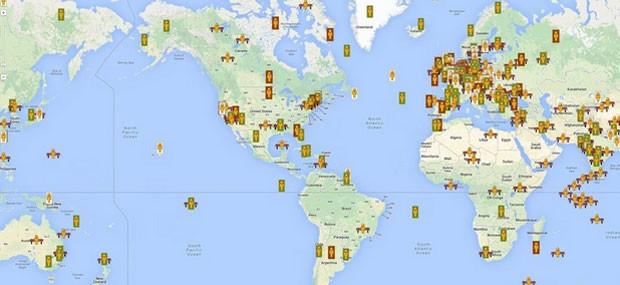 'Google Naps' indica melhores locais para se tirar uma soneca em todo o mundo (Foto: Divulgação/Google Naps)