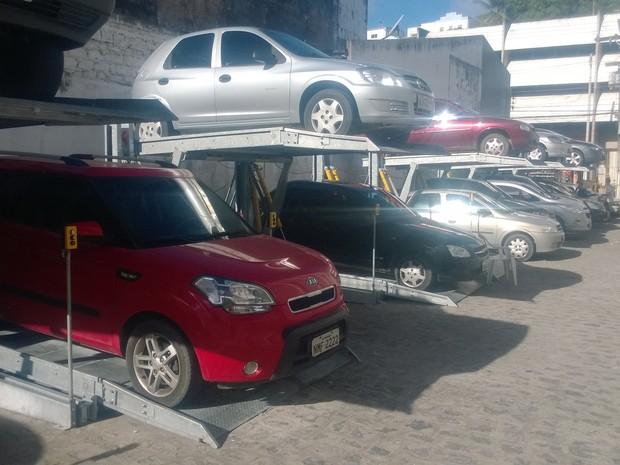 Investimento ampliou o número de vagas no estacionamento (Foto: Reprodução/TV Gazeta)