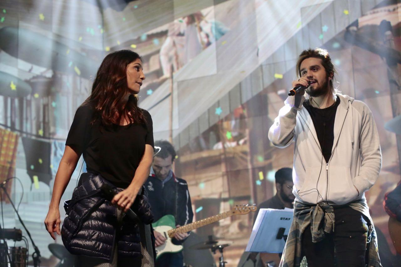 Luan e Ivete (Foto: Juliana Coutinho/Multishow)