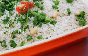 Como fazer arroz natalino com champanhe