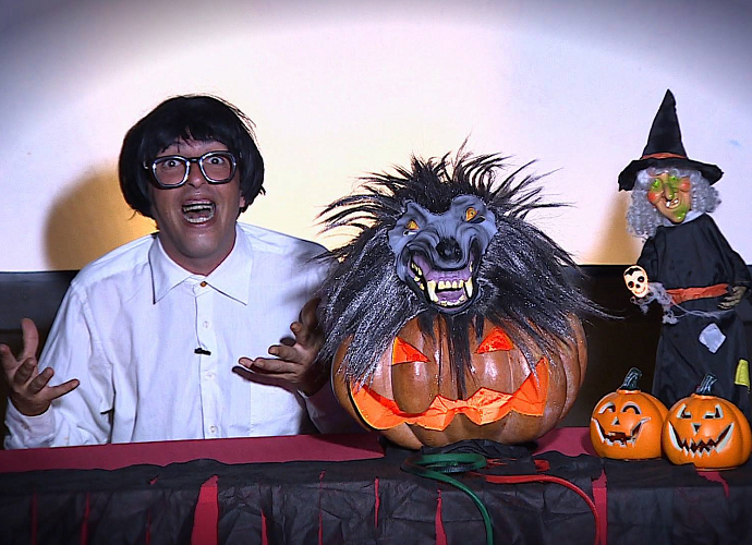 Kassem no Halloween (Foto: Reprodução / TV SERGIPE)