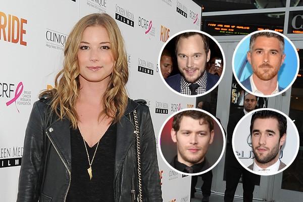 Emily VanCamp, Chris Pratt, Dave Annable, Joseph Morgan e Josh Bowman (Foto: Getty Images)