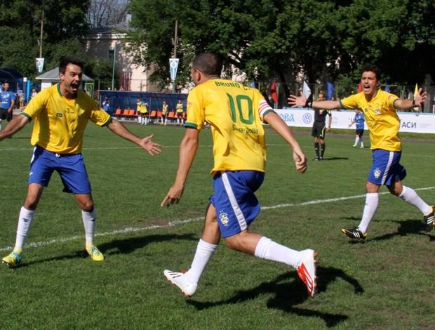 Brasil vence a segunda na Copa do Mundo dos Artistas (Foto: Cleomir Tavares)