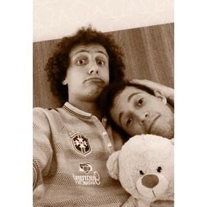 David Luiz e Bernard brincam em post (Foto: Reprodução/Instagram)