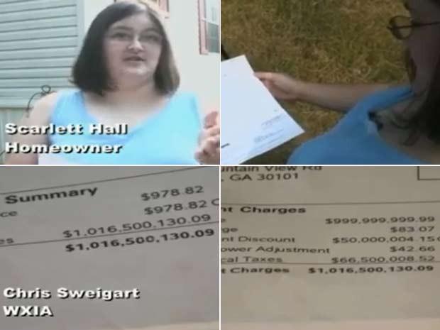 Americana Scarlett Hall recebeu uma conta de luz de mais de US$ 1 bilhão. (Foto: Reprodução)