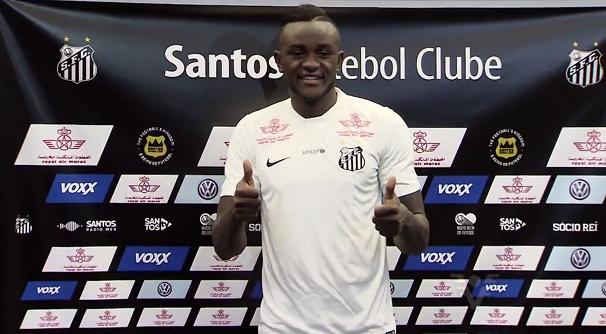Joel, atacante do Santos (Foto: Reprodução/TV Tribuna)