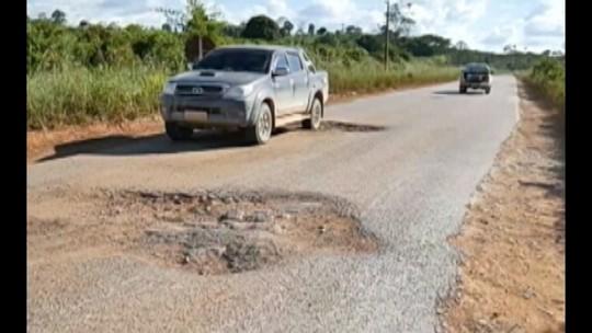 População denuncia buraqueira na PA-279, no sudeste do Pará
