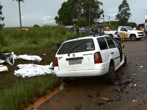 Acidente na Rodovia Miguel Melhado em Campinas (Foto: Reprodução/ EPTV)