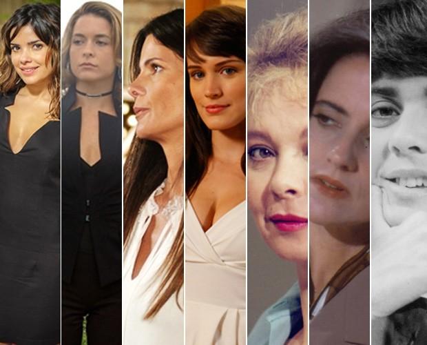 Belas e sedutoras, secretárias vilãs deram golpe em várias novelas (Foto: Vídeo Show/TV Globo)