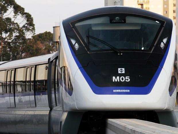 Monotrilho da Linha 15-Prata será aberto para visita a partir deste sábado (30) (Foto: Marcos A. Silva/ Metrô/Divulgação)