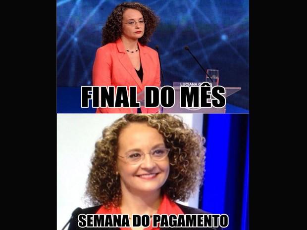 Luciana Genro - meme (Foto: Reprodução)