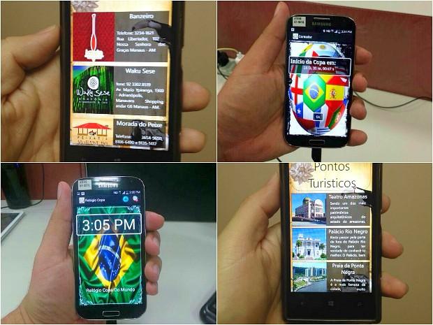 Aplicativos foram desenvolvidos por universitários (Foto: Divulgação/projeto Copa)