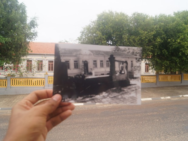 Reprodução foi feita na Prelazia, prédio construído em 1907 e localizada na rua Bento Brasil, Centro de Boa Vista (Foto: Romerson Martins/Arquivo Pessoal)