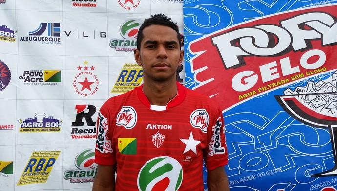 Tiago Santos, novo lateral esquerdo do Rio Branco/AC (Foto: Duaine Rodrigues)