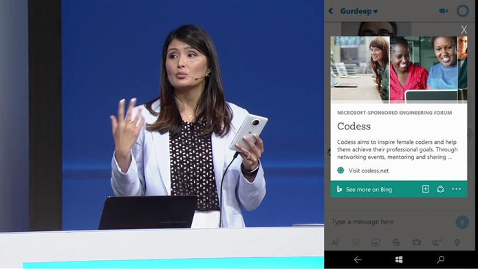 Cortana poderá exibir cards com informações de pesquisas fornecidas pelo Bing (Foto: Reprodução/Elson de Souza)