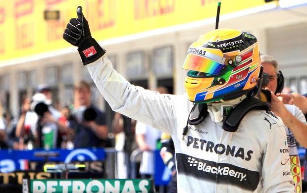 Hamilton pole treino GP Hungria (Foto: Reuters)
