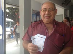 aposentado macapá apostador quina mega sena lotérica loteria (Foto: Abinoan Santiago/G1)