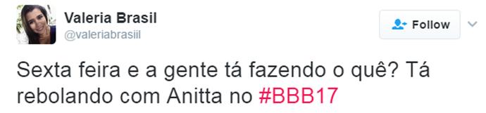 Tweet Anitta (Foto: Reprodução da Internet)