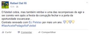 Rafael Dal Ri; Futebol (Foto: Reprodução/Facebook)