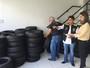 Operação apreende no Recife 376 pneus vendidos de forma irregular