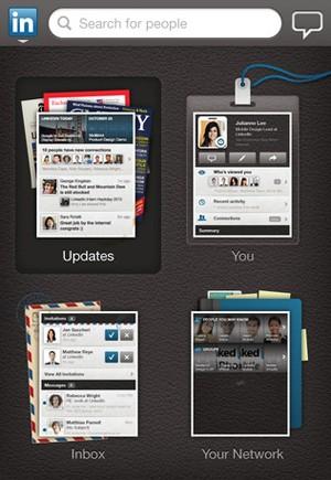 Aplicativo do Linkedin para iPad (Foto: Reprodução)