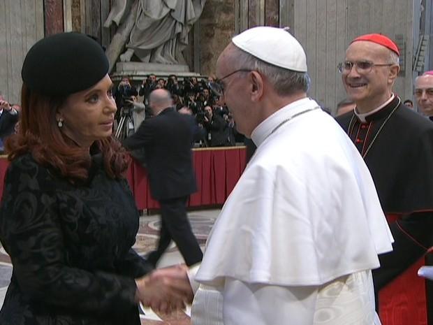 Padre Federico Lombardi confirmou visita da presidente argentina (Foto: Reprodução/Globo News)