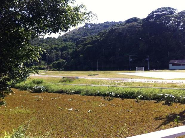 Lago do Parque Municipal em Petrópolis (Foto: Karen de Souza/Intertv)