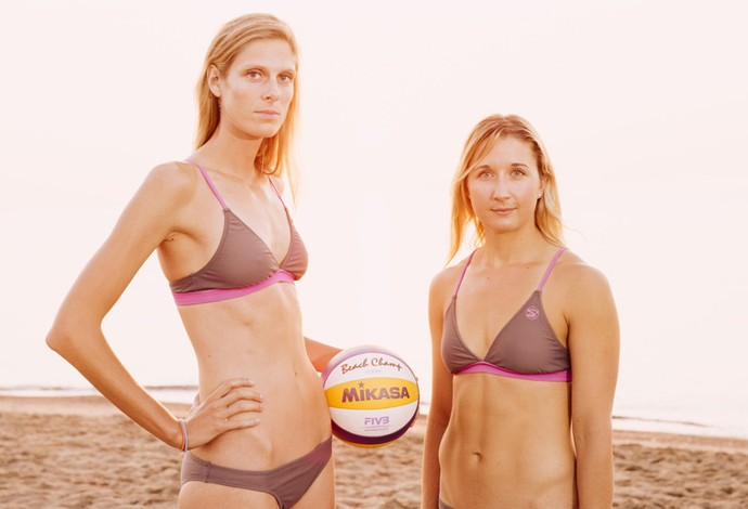 Sarah Pavan e Heather Bansley, do vôlei de praia (Foto: Site oficial Sarah Pavan & Heather Bansley)