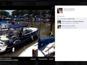 Fotos de lanchas roubadas eram postadas nas redes sociais (Foto: Reprodução)