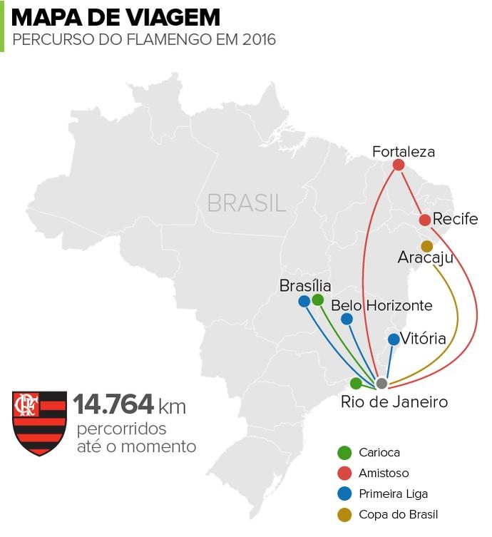 Info Mapa de Viagens Flamengo A (Foto: Infoesporte)