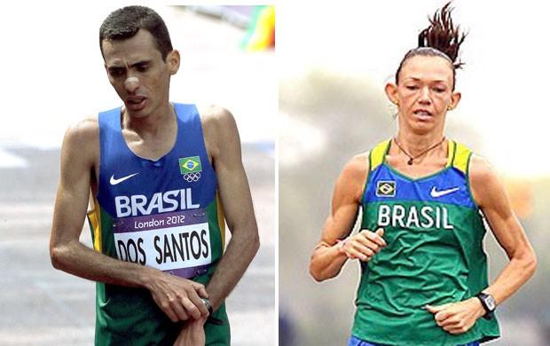 Montagem, Marailson e Adriana Aparecida (Foto: Editoria de Arte / Globoesporte.com)