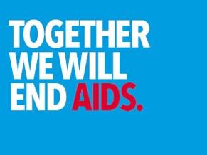 Together we will end Aids (Foto: Divulgação)