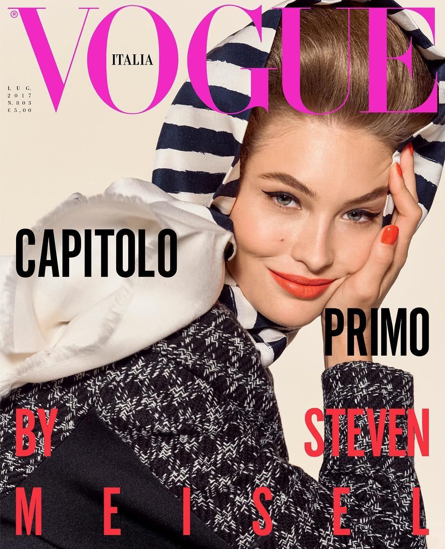 A primeira capa da nova Vogue Itália (Foto: Reprodução/ Instagram)