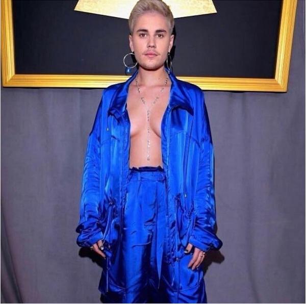 A montagem compartilhada pelo músico Justin Bieber, com o corpo da cantora Halsey (Foto: Instagram)