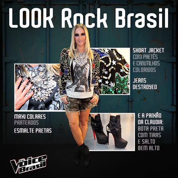 Claudia Leitte em look Rock Brasil (Foto: The Voice Brasil/Tv Globo)