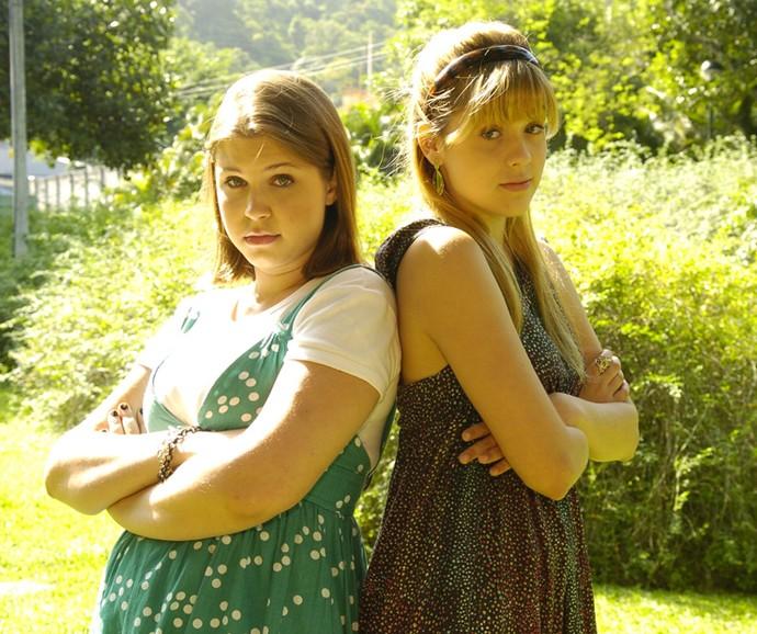 Sophia Abrahão era Felipa, irmã de Domingas (Carolinie Figueiredo) na temporada 2008 de Malhação (Foto: Thiago Prado Neris / TV Globo)