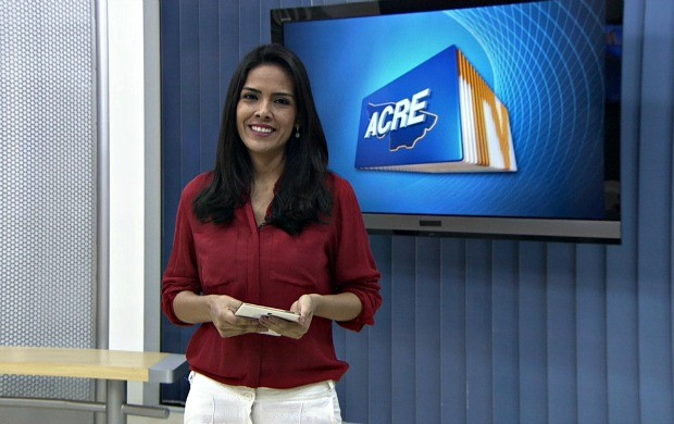 """Lys Mendes ficou um mês a frente do Acre TV e classificou a experiência como """"maravilhosa"""" (Foto: Acre TV)"""