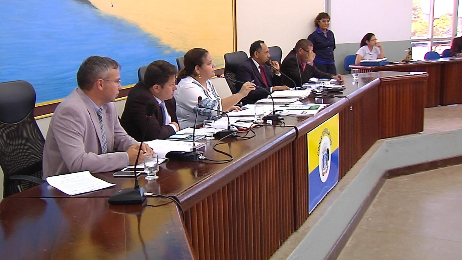 Essa foi a última sessão deliberativa da Câmara (Foto: Reprodução/TV Tapajós)