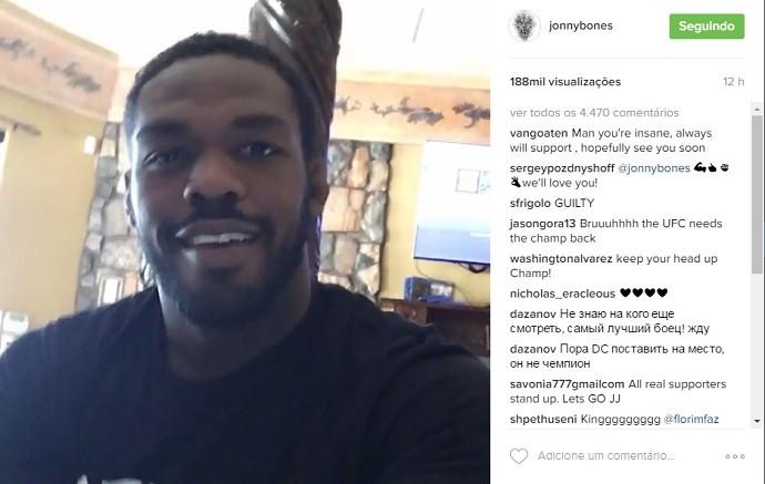 """BLOG: Jon Jones posta vídeo e comenta situação com Usada: """"Temos notícias muito boas"""""""