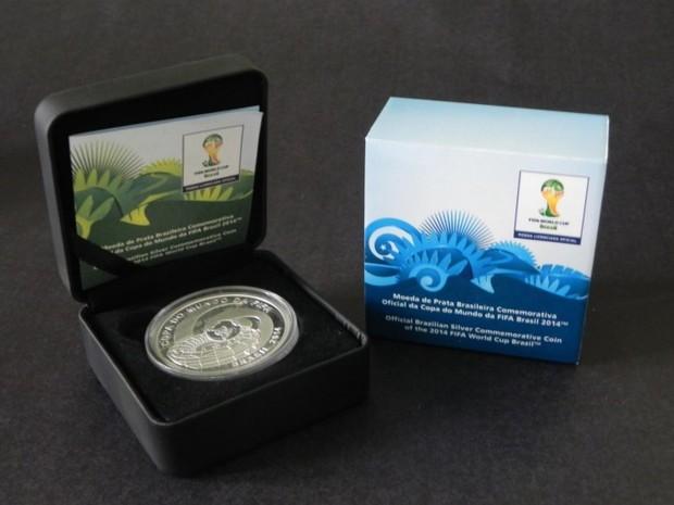 Moeda de prata com o mascote da Copa custa R$ 190 (Foto: Divulgação/ Banco Central)