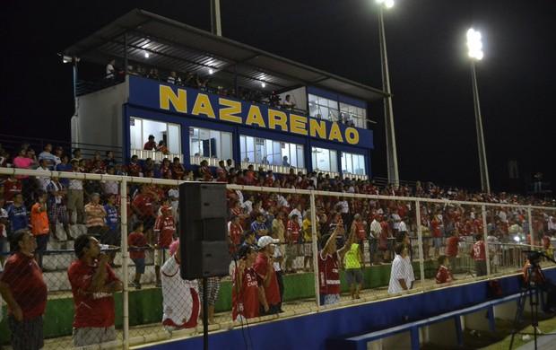 Torcida do América-RN comparece ao Estádio Nazarenão, em Goianinha