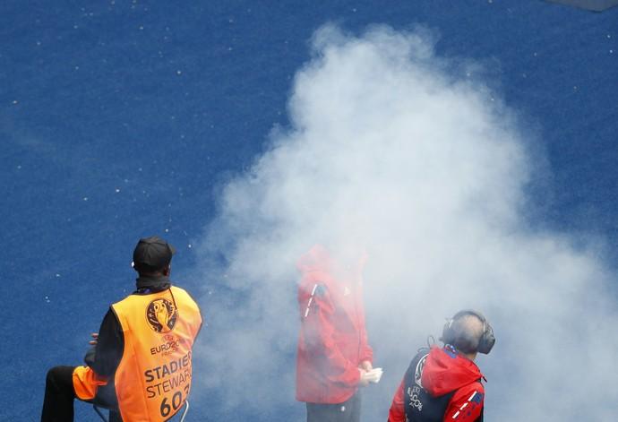 Bomba Turquia x Croácia (Foto: Reuters)