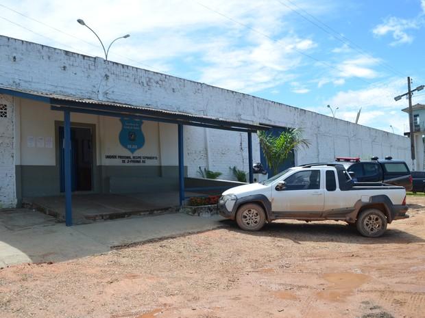Unidade de regime semiaberto do Presídio Agenor Martins de Carvalho, em Ji-Paraná (Foto: Pâmela Fernandes/G1)