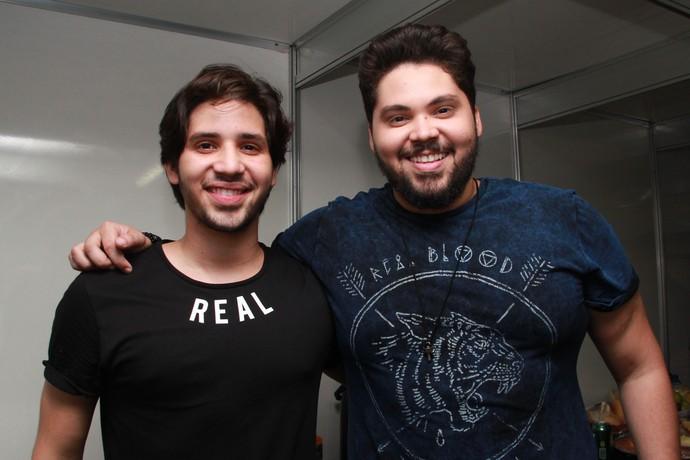 Pedro e Benício estreiam no Villa Mix Fortaleza (Foto: Luanna Gondim / TV Verdes Mares)