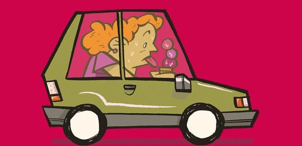 Manias no carro - Comer e beber (Foto: André Valente/Autoesporte)