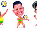 Representantes do Espírito Santo na Rio 2016 ganham caricaturas