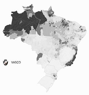 Mapa Vasco (Foto: GloboEsporte.com)